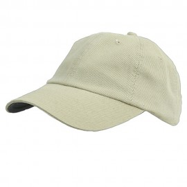 Corduroy Cotton Washed Cap-Natural