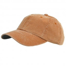 Corduroy Cotton Washed Cap-Orange