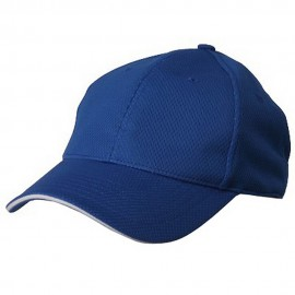 Jersey 6 Panel Athletic Mesh Cap-Royal