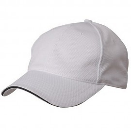 Jersey 6 Panel Athletic Mesh Caps-White