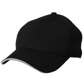 Jersey 6 Panel Athletic Mesh Cap-Black