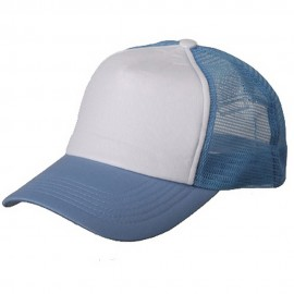 Cotton Trucker Cap-Skyblue White