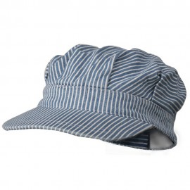 Light Striped Conductor's Cap - Light Blue Stripe