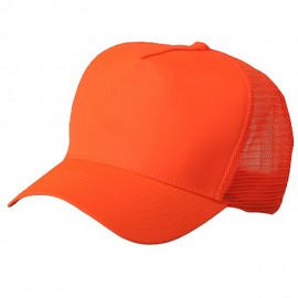 5 Panel High Visilbility Mesh Cap-Neon Orange