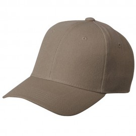 Fitted Cap-Khaki