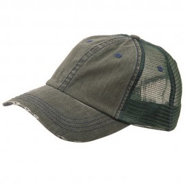 Low Profile Special Cotton Mesh Cap-Dk. Green