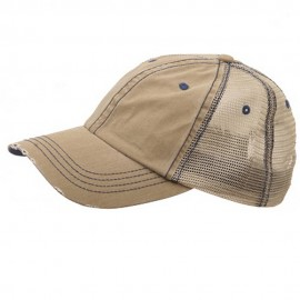 Low Profile Special Cotton Mesh Cap-Khaki