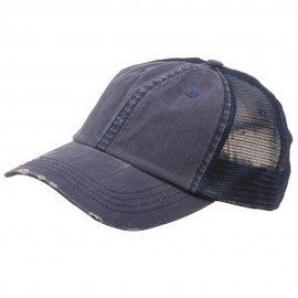 Low Profile Special Cotton Mesh Cap-Navy