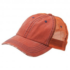 Low Profile Special Cotton Mesh Cap-Orange