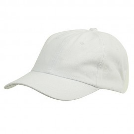 6 Panel Light Cotton Cap / White
