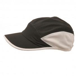 Side Mesh Polyester Casual Cap-Black Natural