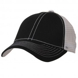 Low Profile Structured Trucker Cap-Black White