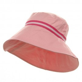 Rushed Canvas Wide Brim Hat - Pink