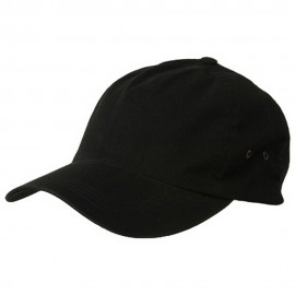 Normal Dyed Washed Cap-Black
