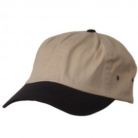 Normal Dyed Washed Cap-Khaki Navy