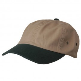 Normal Dyed Washed Caps-Khaki Green