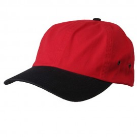 Normal Dyed Washed Caps-Red Navy