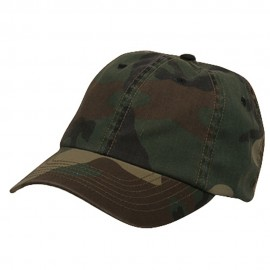 Enzyme Washed Camo Cap-Camo