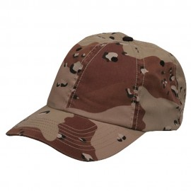 Enzyme Washed Camo Cap-Desert