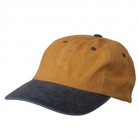 Pigment Dyed Wash Cap-Mustard Navy