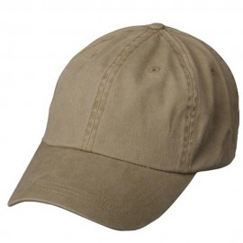 Pigment Dyed Wash Caps-Khaki