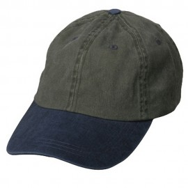 Pigment Dyed Wash Caps-Olive Navy