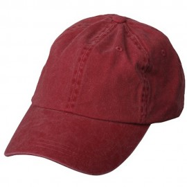 Pigment Dyed Wash Caps-Wine