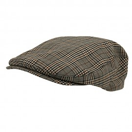 Elastic Plaid Fashion Ivy Cap