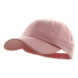 Low Profile Dyed Cotton Twill Cap - Lt Pink
