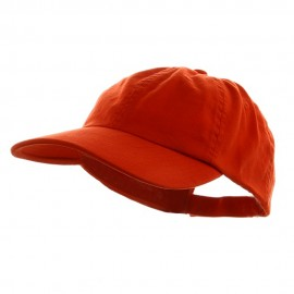 Low Profile Dyed Cotton Twill Cap - Orange