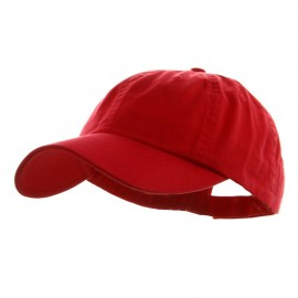 Low Profile Dyed Cotton Twill Cap - Red