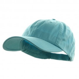 Low Profile Dyed Cotton Twill Caps - Aqua