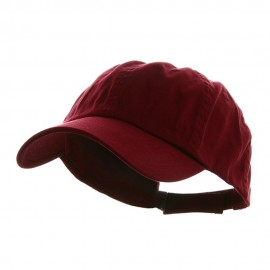 Low Profile Dyed Cotton Twill Cap - Wine