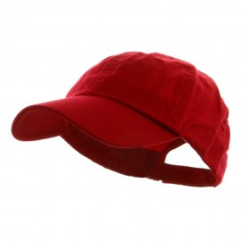 Washed Chino Twill Cap - Red