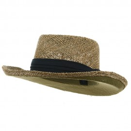 Gambler Straw Hat - Navy Band