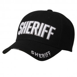 Law And Order Cap-SHERIFF Black
