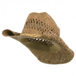 Straw Cowboy Hat-Natural Roll