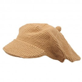 Crocheted Newsboy Hats(02)