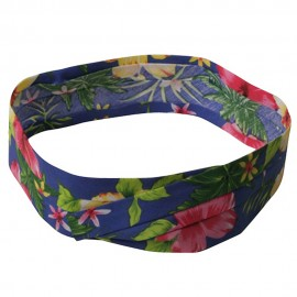Pleated Palm Tree And Flower Hat band
