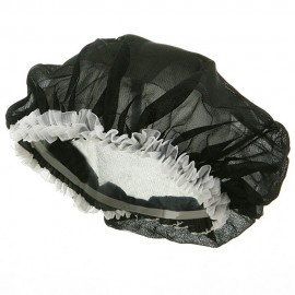 Large Satin Bonnet-Black