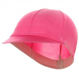 Solid Spandex Pin Wheel Visor Cap-Pink