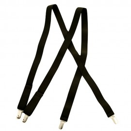 Dress Suspender- Black Solid