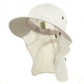 UV 45+ Extreme Condition Flap Hats -White