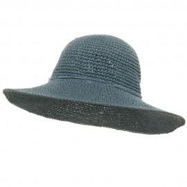 Ladies Hand Crocheted Hat-Blue