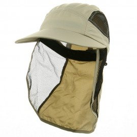 UV 50+ Protection Outdoor Flap Cap - Khaki