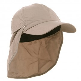 Zippered Flap Caps-Khaki