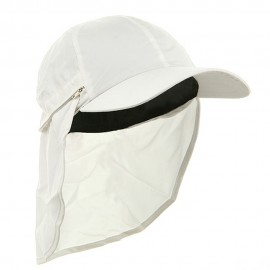 Zippered Flap Caps-White