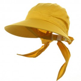 Solid Large Peak Hats-Yellow
