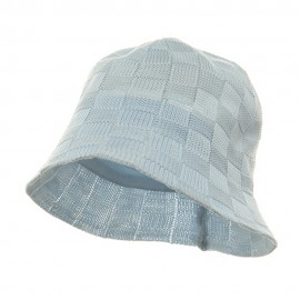 Mesh Checker Bucket Hats