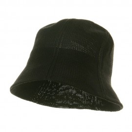 Mesh Bucket Hats-Black
